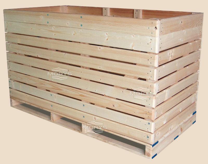 Skrzyniopaleta drewniana typu D1