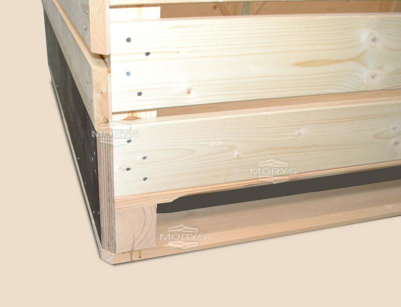 Skrzyniopaleta drewniana typu SEMI ZB