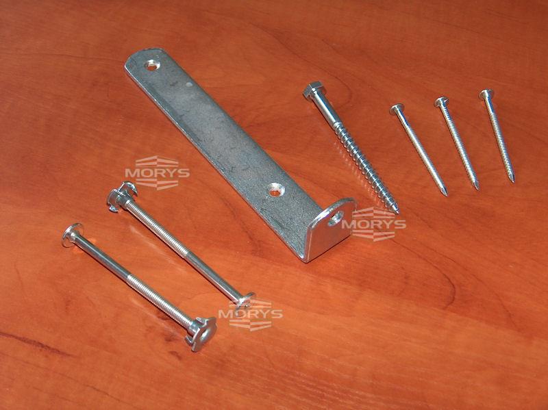 Elementy metalowe wykorzystywane wkonstrukcji skrzyniopalet